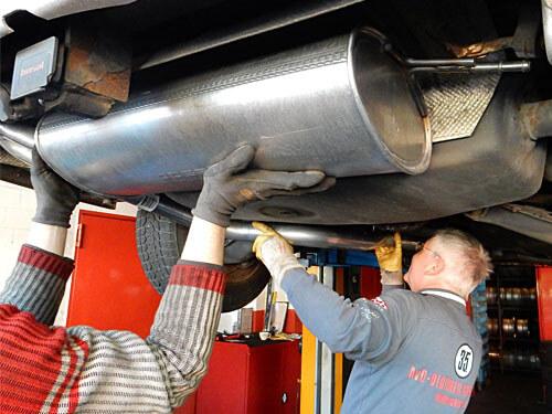 Reparatur einer Abgasanlage